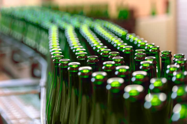 bottles-in-a-brewery